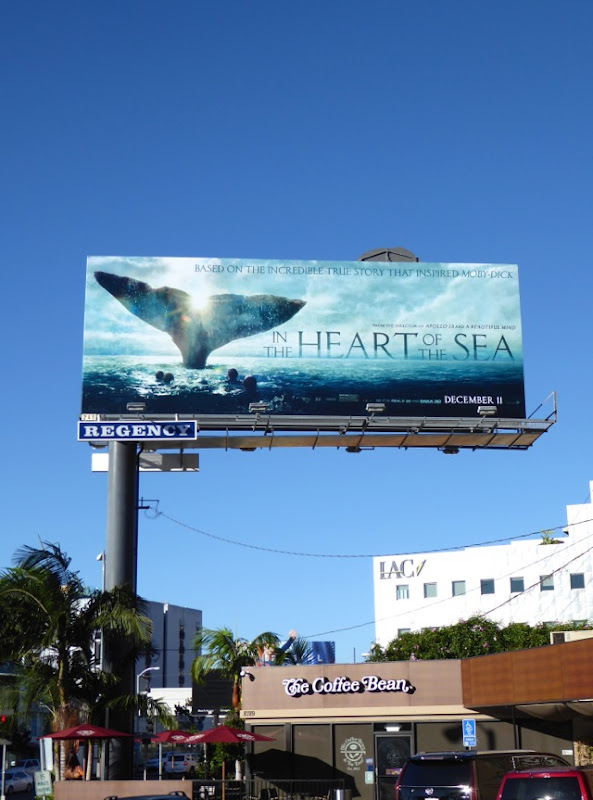 In the Heart of the Sea whale tail billboard