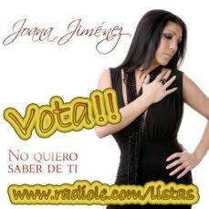 Vota a Joana Jiménez en las listas de Radiolé