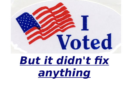I voted but it didn't fix anything