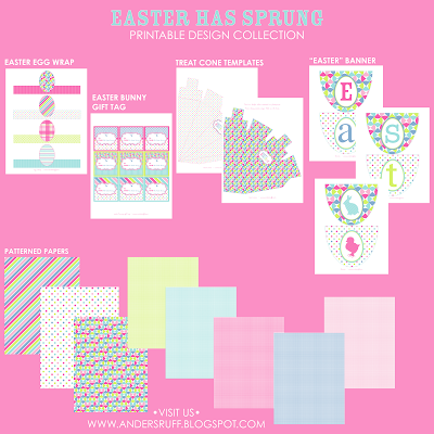 Easter has sprung printable easter collection anders ruff event styling graphic design printables anders ruff custom designs photography becca bond photography negle Images