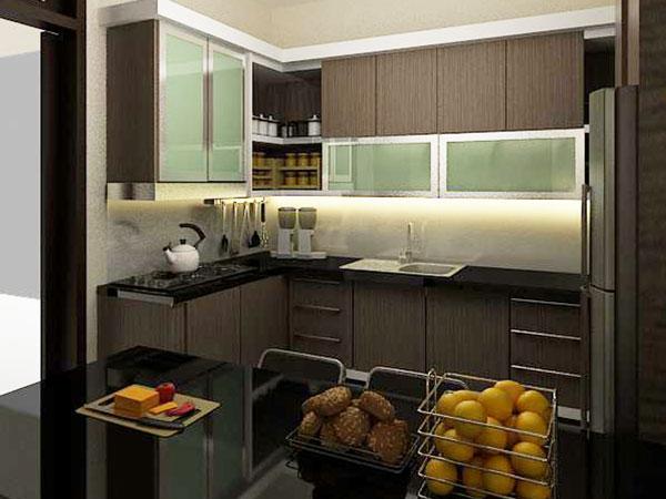 Kitchen set minimalis kitchen set aluminium minimalis for Kitchen set putih