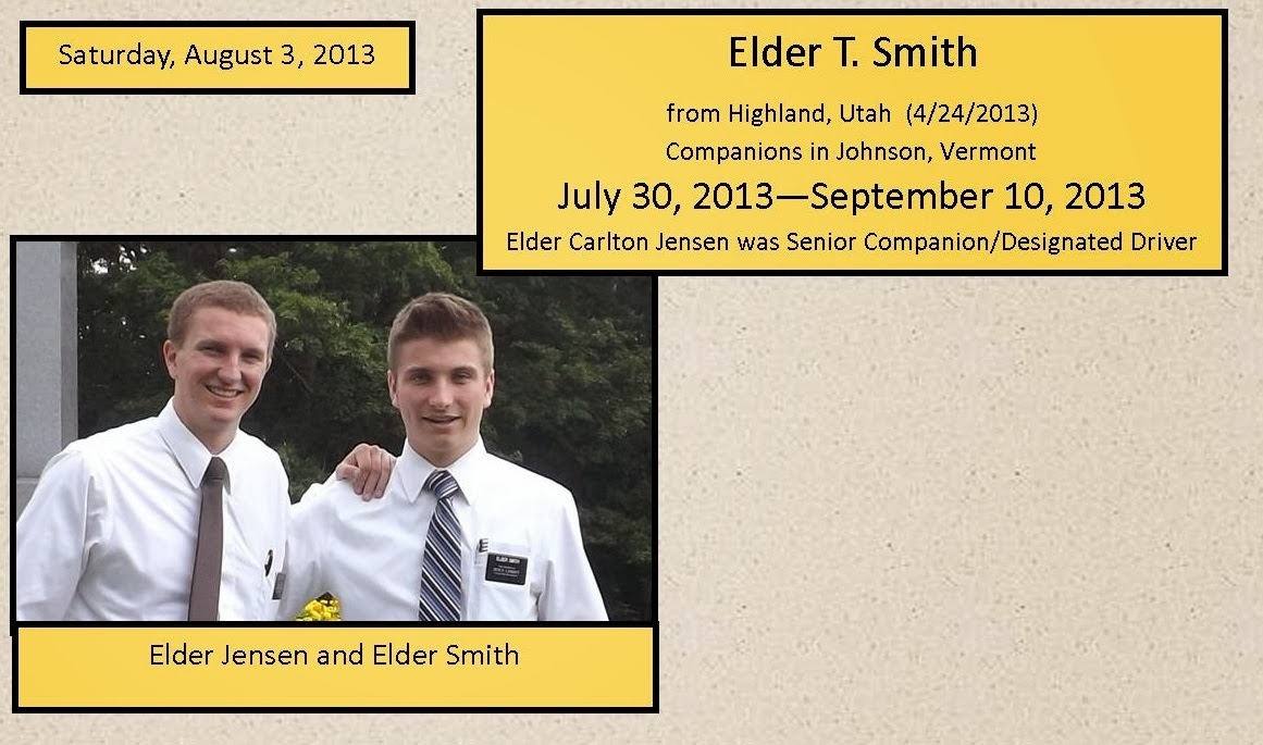 Companions from July 30 - September 10, 2013