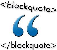 Efect Blockquote di posting