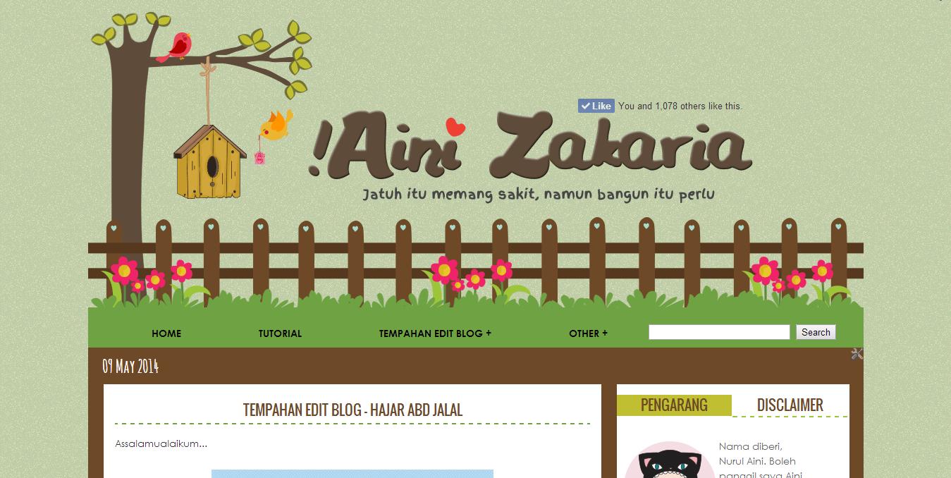 Tukar template blog