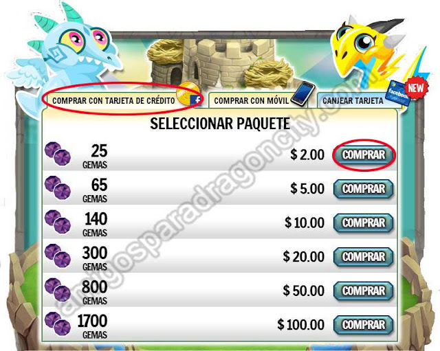 pagar con paypal gemas de dragon city
