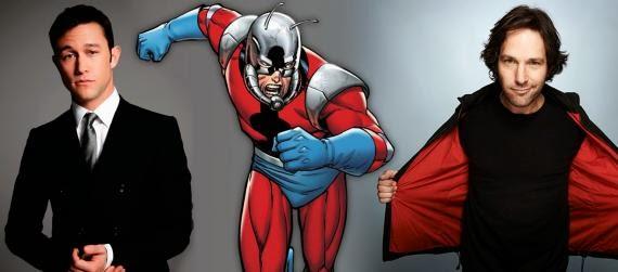 Joseph Gordon Levitt y Paul Rudd optan al papel de Ant-Man