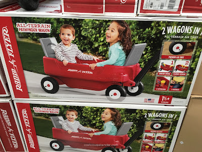 Easily transport cargo with the Radio Flyer All Terrain Pathfinder Wagon