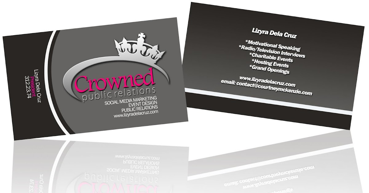 GraphFreak: CROWNED PUBLIC RELATIONS Business Card