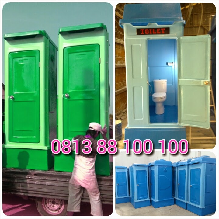 toiletpesta taman, toilet portable fibreglass, flexible toilet frp, wc proyek, toilet taman, closet duduk, wc jongkok