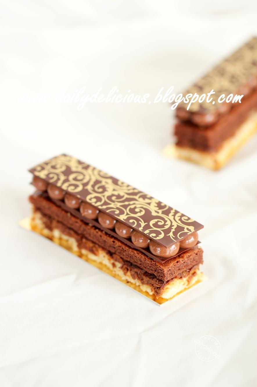 Sponge Cake Chocolat Mousseline Vanille Grand Patissier