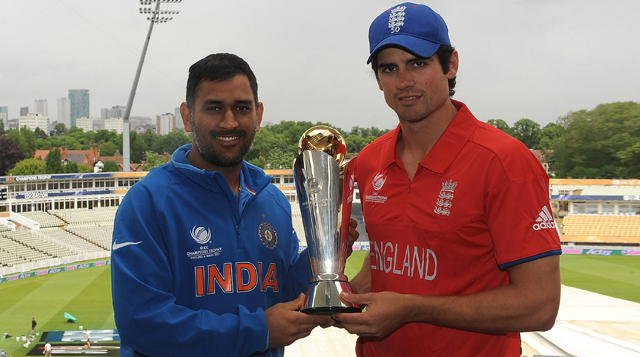 MS Dhoni Alastair Cook ICC Champions Trophy 2013