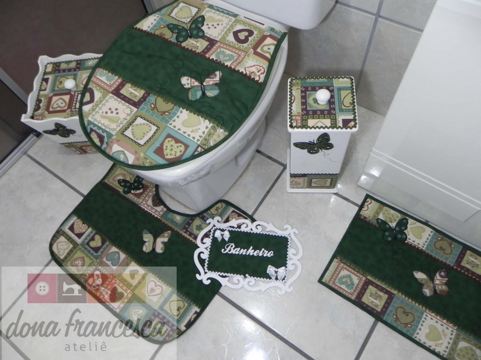 Jogo De Banheiro Completo : Dona francesca ateli? jogo de banheiro completo placa