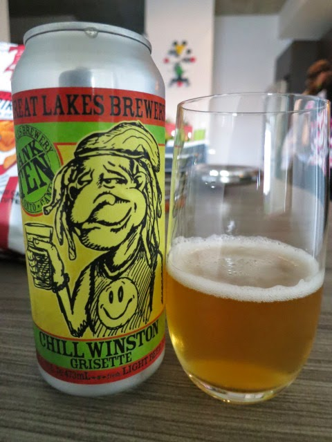 Review of Great Lakes Brewery Chill Winston Grisette Beer
