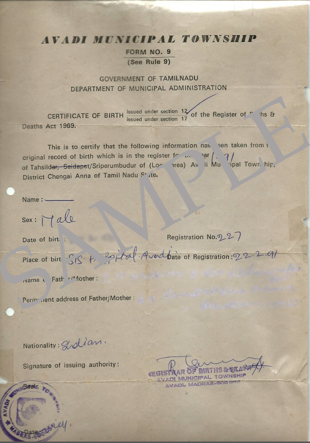Debut blogger birth certificate issued by a municipal authority yadclub Image collections