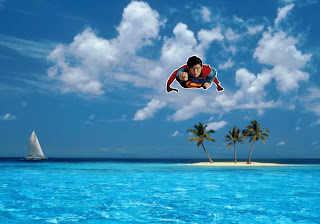 Superman free wallpapers Super Sonic Speed in Blue Island background