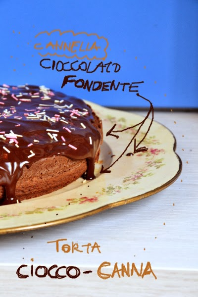 torta al cioccolato fondente e cannella