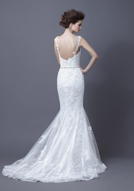 Lace Mermaid Straps Wedding Dress