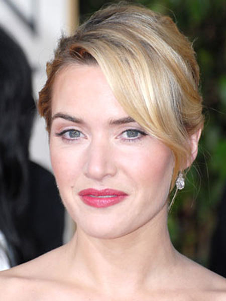 Kate Winslet puts a new twist on an old classic with shiny, silky strands in front and soft, touchable texture in back.
