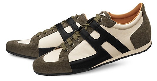EMM (pronounced EdoubleM): HERMÉS Tie Break Sneakers in Olive