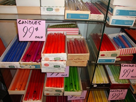 Unsold candles from an upscale gift shop - now $.99 at junk
