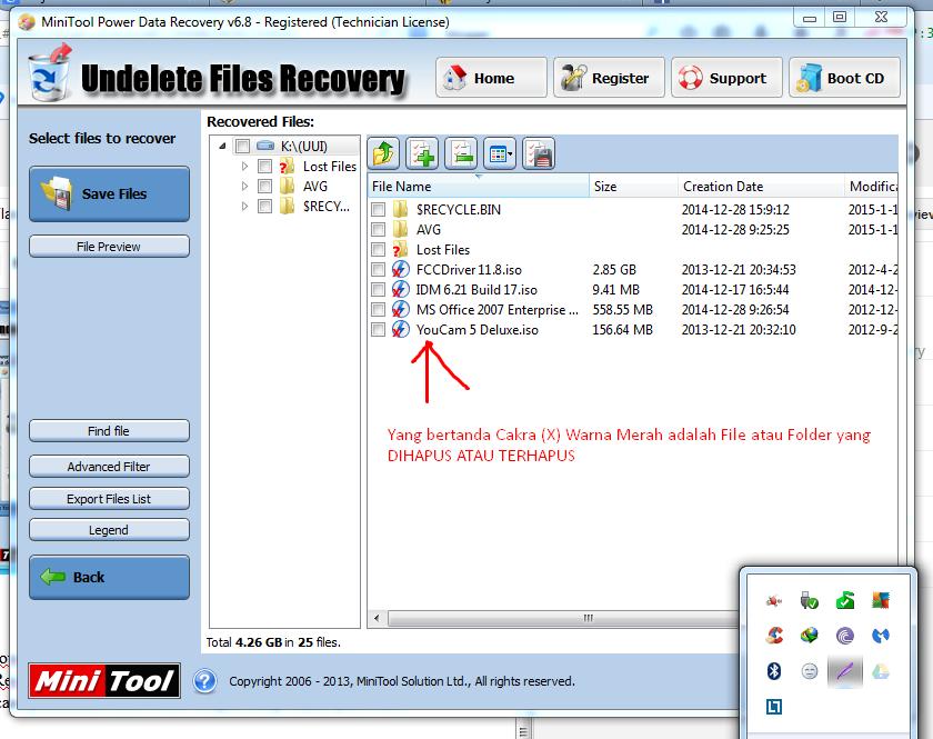 Daftar File yang MUncul Pada MiniTool Power Data Recovery
