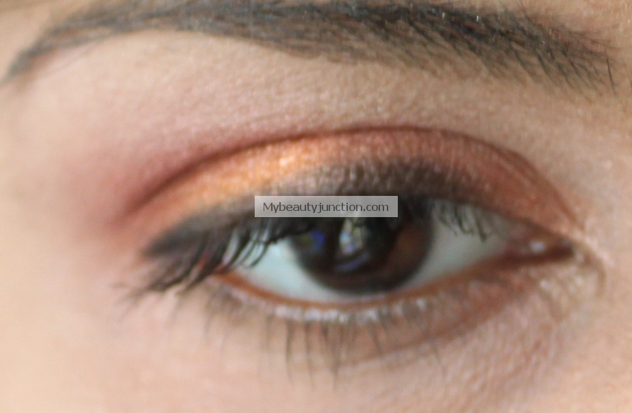 Orange and rose gold eyes with Sleek Sunset palette
