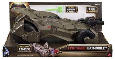 TOYS : JUGUETES - BATMAN V SUPERMAN  El Amanecer de la Justicia : Dawn of Justice  Epic Strike Batmobile | Vehículo - Vehicle  Producto Oficial Película 2016 | Mattel DHY29 | A partir de 3 años  Comprar en Amazon España & buy Amazon USA