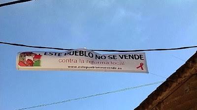 Huerta, Tormes, este pueblo no se vende, contra la reforma local