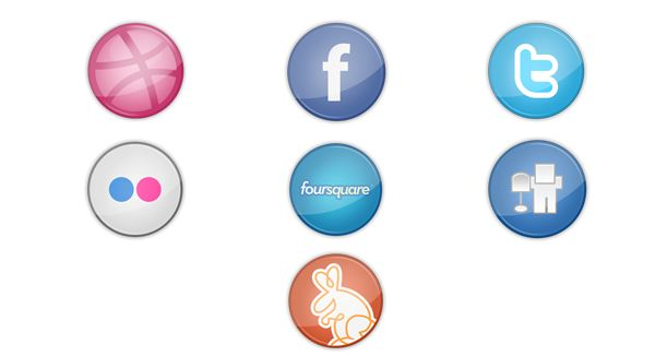 Free Social Network Icons by Chris Dalonzo