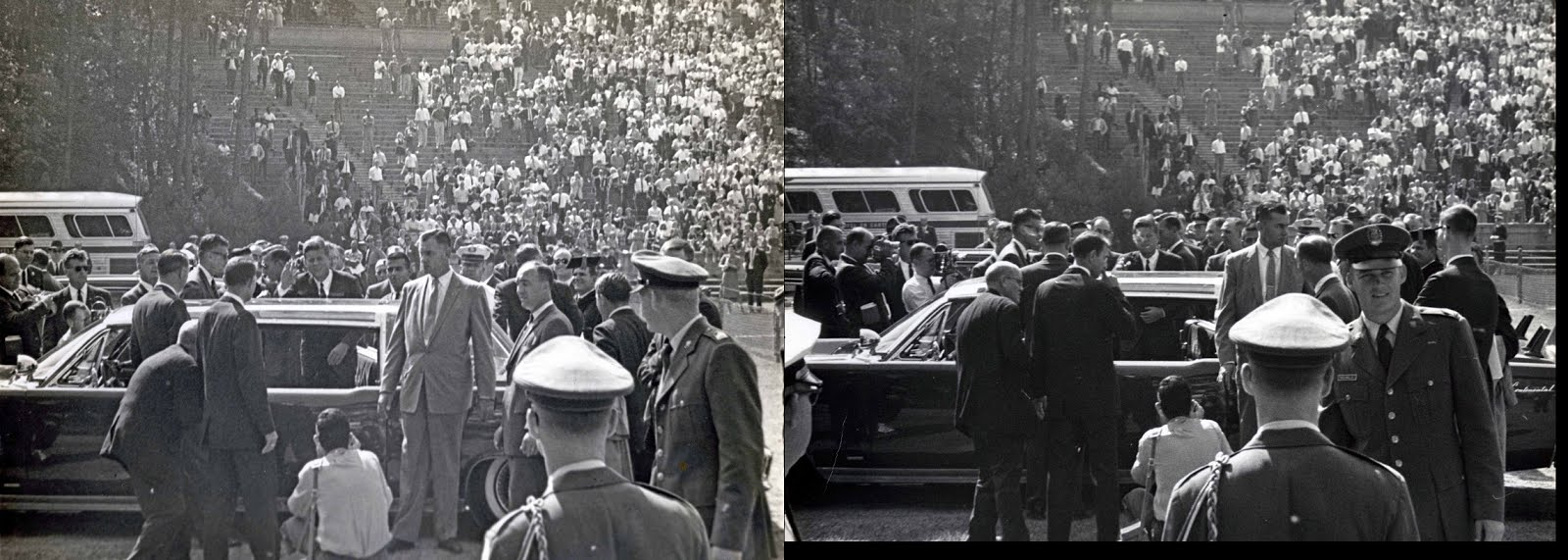 10/12/61: JFK at UNC and the bubbletop he allegedly didn't want once again