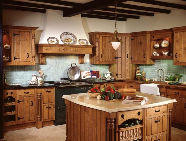 The design center rustic italian kitchens for Western kitchen cabinets