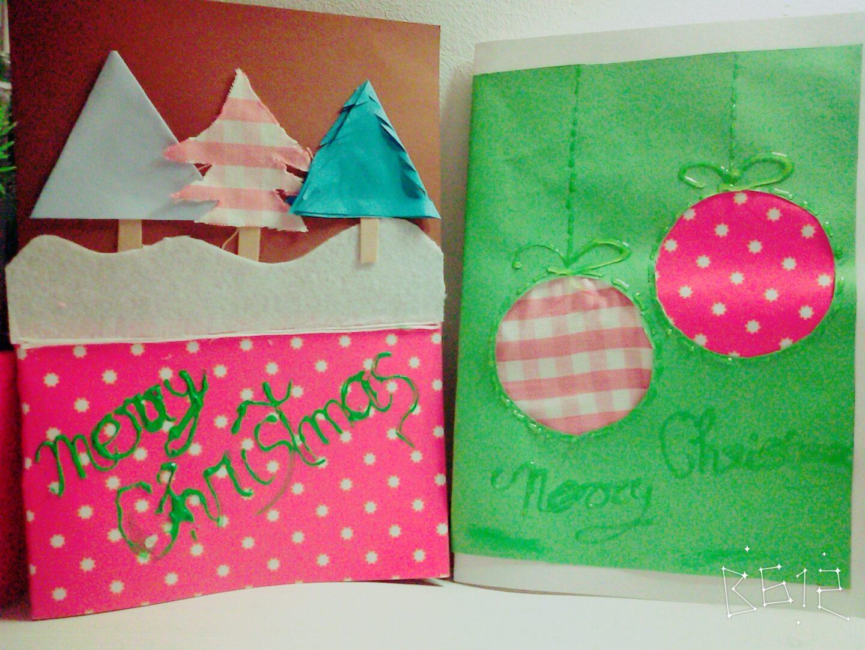 os dejo dos ideas muy bonitas y originales para elaborar dos postales navideas muy fciles de hacer