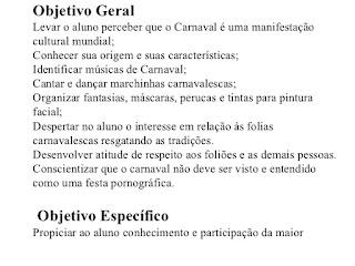 Projeto Carnaval na Escola