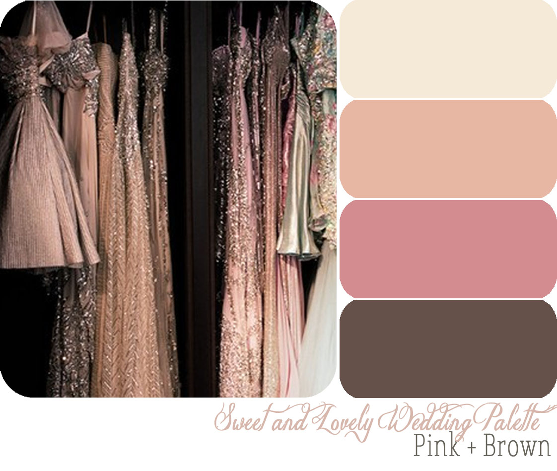 Wedding Palette Pink Brown
