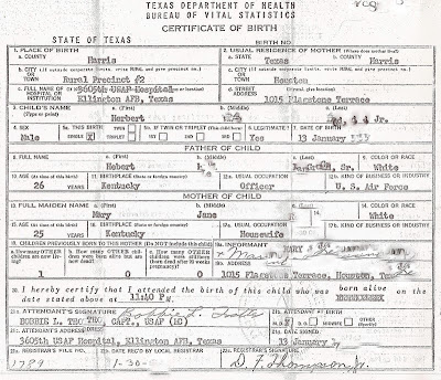 Herb of DC: My Baby Boomer Birth Certificate