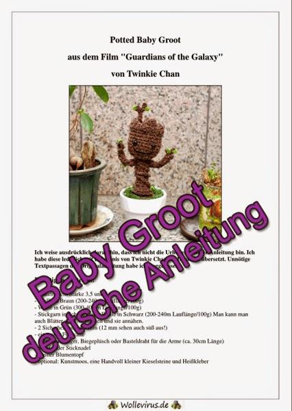 Hilfe Ich Hab Den Wollevirus Deutsche Anleitung Für Baby Groot