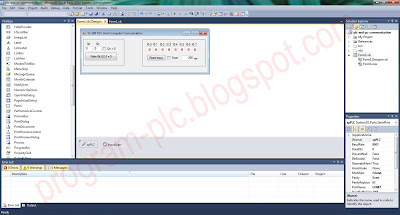 Layout Form in Visual Basic for PLC and Computer Communication