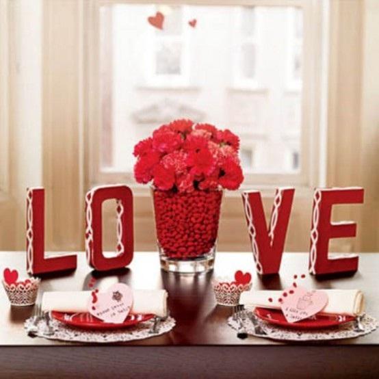 19 mesas decoradas para san valent n popular home interior for Mesa para san valentin