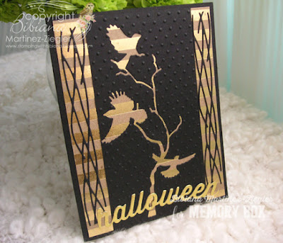 quick and easy halloween card in black and kraft