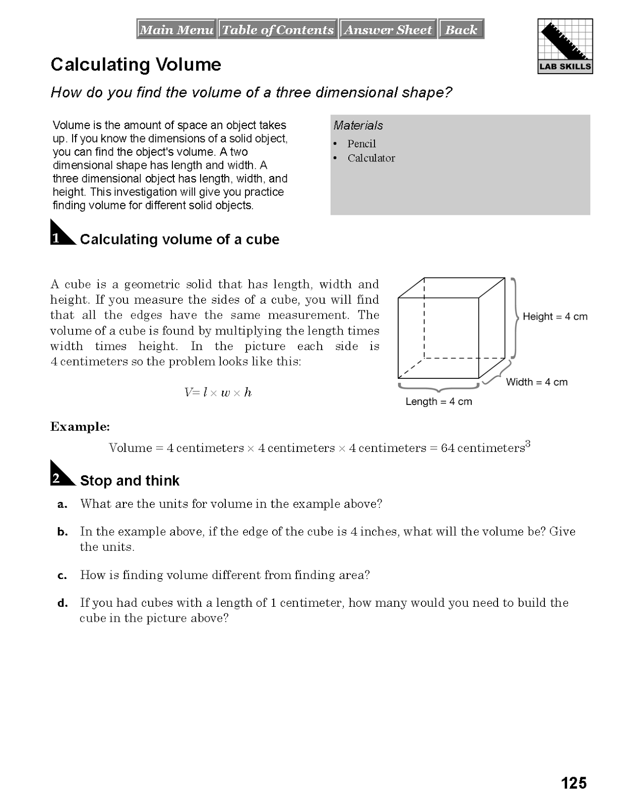 science experiments template