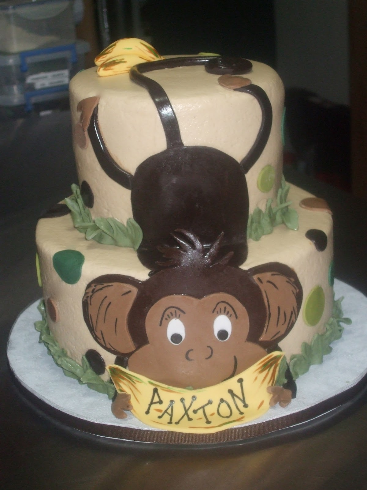 Monkey Baby Shower Cake 1200 x 1600