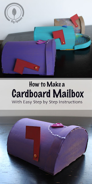 Cardboard Creations - DIY Mailbox - How to make a cardboard mail box with easy step by step instructions