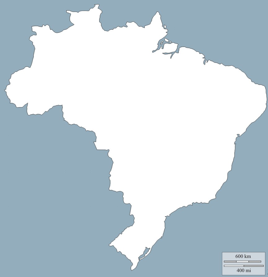 Brazil Map Outline 2015 Download | World Maps