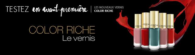 Jeu L'Oréal: 300 vernis Color Riche à gagner