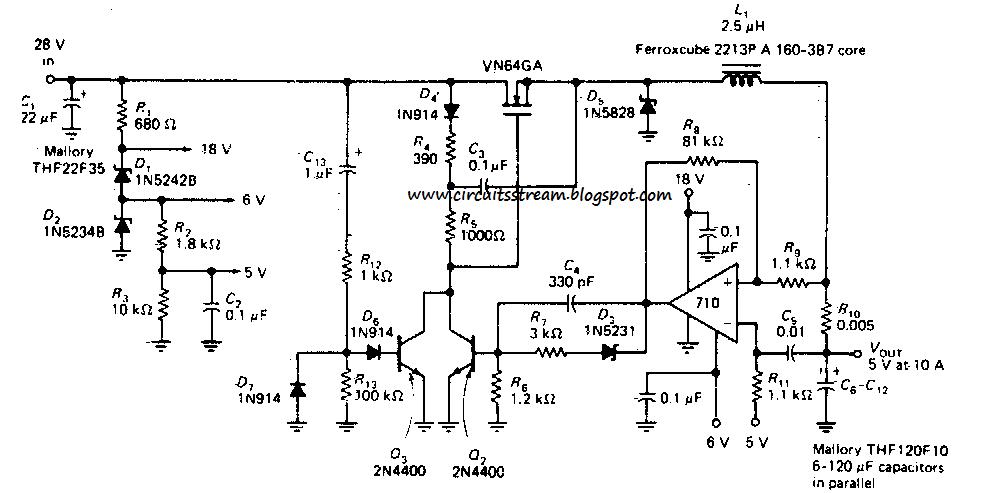 how to build switching regulator circuit diagram operating