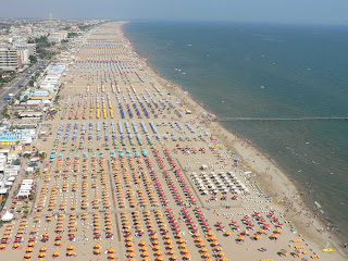 Italian sea: beach of Riccione