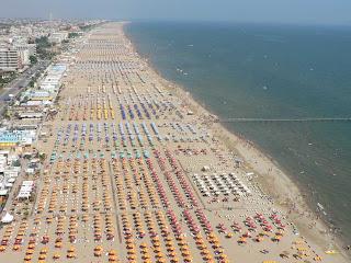 Italian sea: beach of Riccione