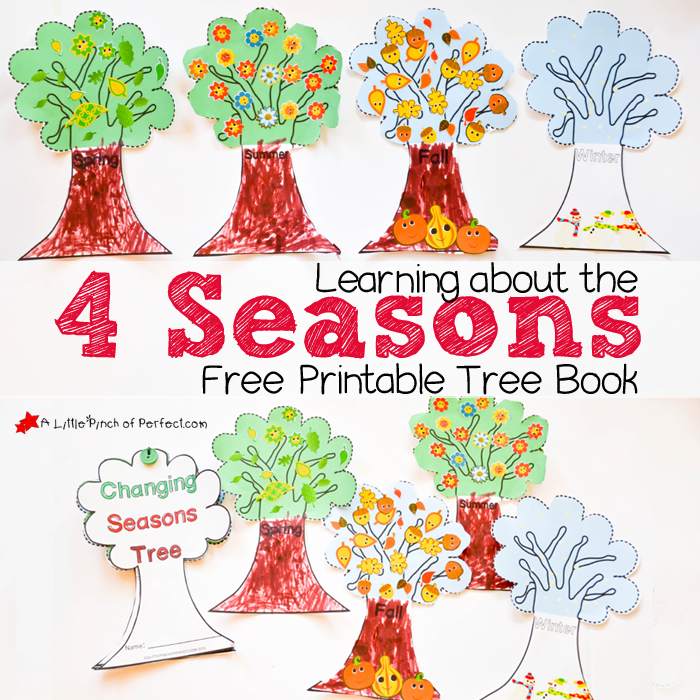 picture about Seasons Printable identify Studying In excess of the 4 Seasons Lovable Free of charge Printable Tree E-book -