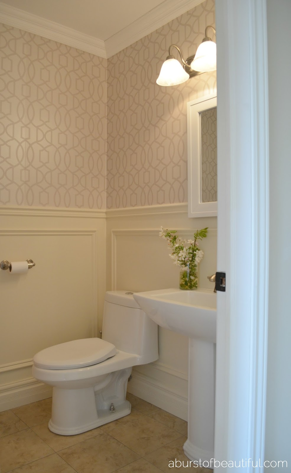 Pretty Powder Room A Burst Of Beautiful