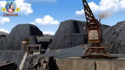 2012 Kids movie Thomas the tank engine and friends Merrick the quarry crane Blue Mountain Mystery